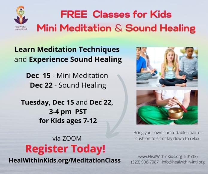 Kids Mini Meditation and Sound Healing Classes